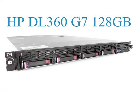 Servidor Hp Proliant Dl360 G7 128g 2xeon Sixcore 2 Sas 300gb