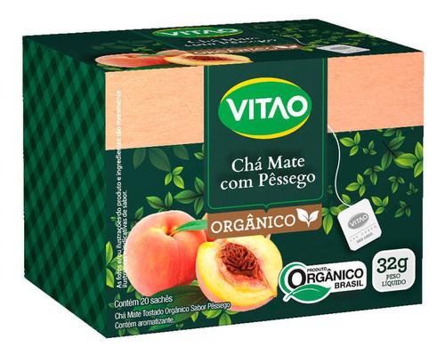Chá-mate Orgânico Pêssego Sachê 32g (01 Cx - 20 Sachês)