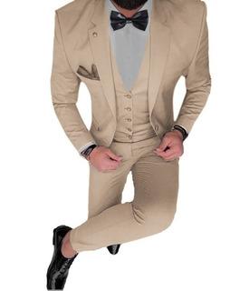 Trajes Slim Fit Con Chaleco Moño Camisa Zapato Charol Cinto