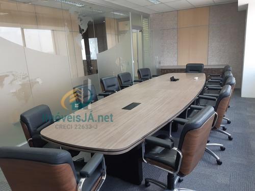 Excelente Sala Comercial  100% Mobiliada - Completa Com Mesas, Cadeiras, Piso Em Carpete, 479 M², 06 Banheiros, 01 Copa - 808