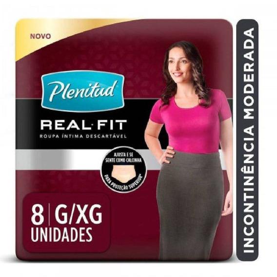 Kit C/ 2 Roupa Intima Plenitud Real Fit Fem C/8 G/xg