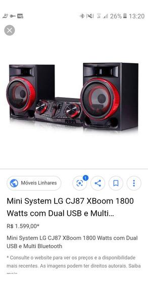 Som Mini System Lg 1800 Watts.