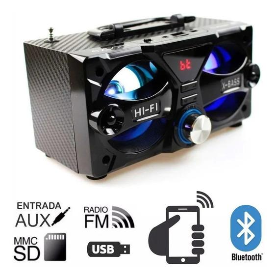 Caixa De Som 10w Bluetooth/usb/fm/sd M226bt Exbom