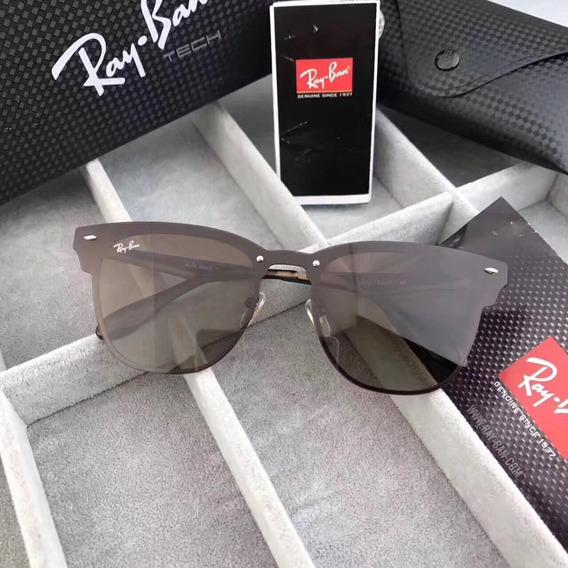 Ray-ban Blaze Clubmaster Rb3576 Oculos De Sol Caixa Tech