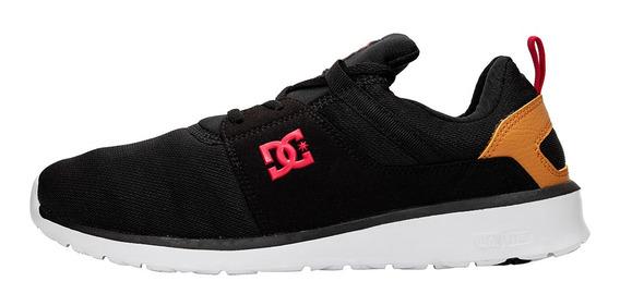 Tênis Dc Shoes Heathrow Preto Black / Camel