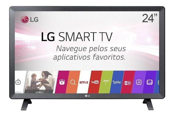 Smart Tv Monitor Lg 24 Polegadas Led Wi-fi Webos 3.5 Dtv