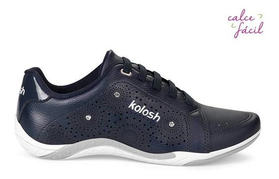 Tênis Feminino Kolosh C1285 Azul Marinho Casual Original