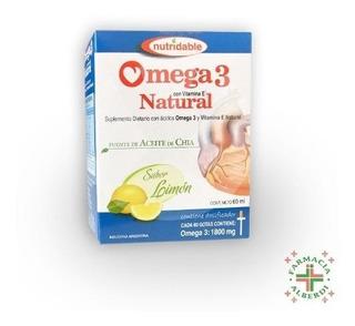 Omega 3 Natural Gotas X 60 Ml Sabor Limon