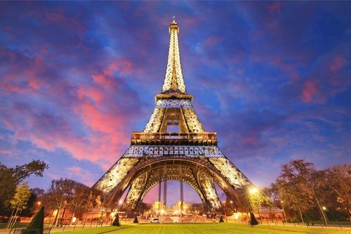 Painel Festa Lona Aniversário 15 Anos Torre Eiffel Linda