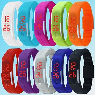 Reloj Silicona Pulsera Moda Unisex Colores Lindo