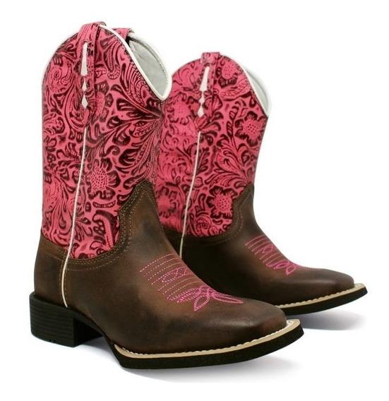 Bota Texana Country Feminina Couro Lançamento Fb006
