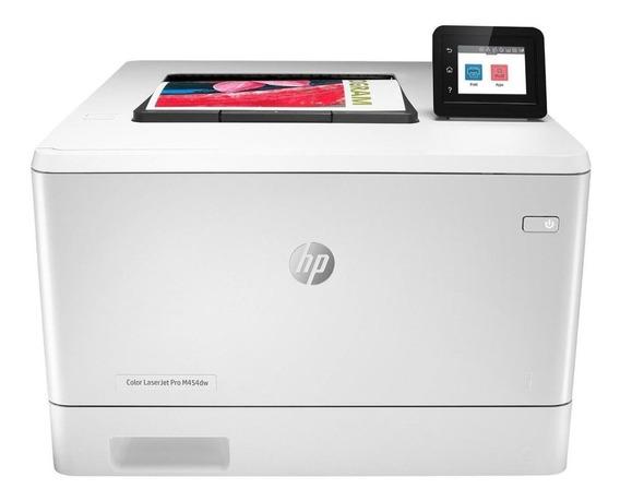 Impressora a cor HP LaserJet Pro M454DW com wifi 110V - 127V branca