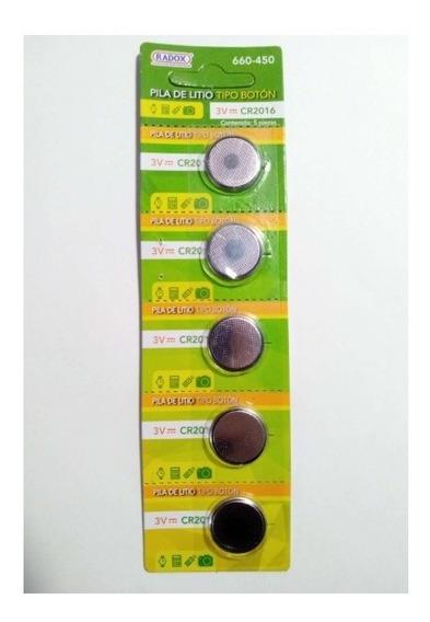 Paquete De 5 Pz Pila Bateria Boton 3v Cr2016 - T2004
