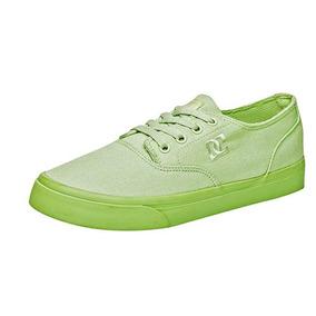 Tenis Casual Dc Shoes Flash Niños Textil Verde Dtt K59837