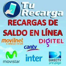 Recargas Pagolisto, Movinet,cantv,digitel Y Movistar