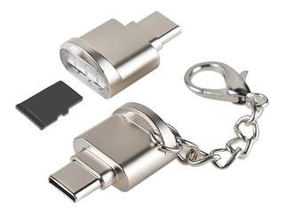 Adaptador Usb Tipo C 3.1 Leitor Cartão De Memoria Micro Sd