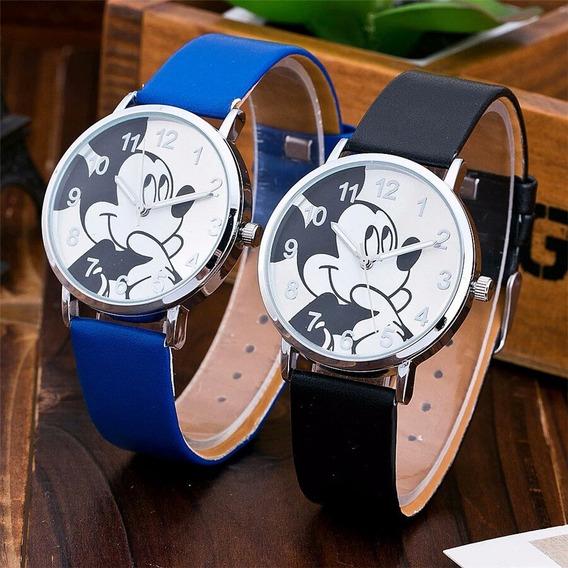 Relógio Mickey Mouse Disney Unisex Lindo Bom Bonito Barato