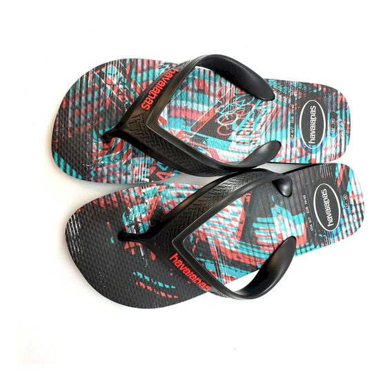 Chinelo Unisex Havaianas Ref:4144525 Top Max Motion Borracha