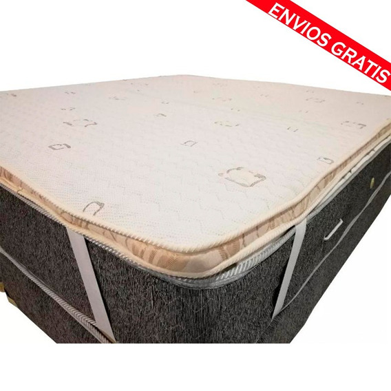 Pillow Top Desmontable Matelaseado 160x200 (no Es Un Colchón