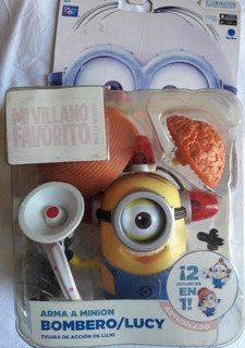 Oferta Vidriera!! Minion Bombero Y Lucy 2 En 1 Orig