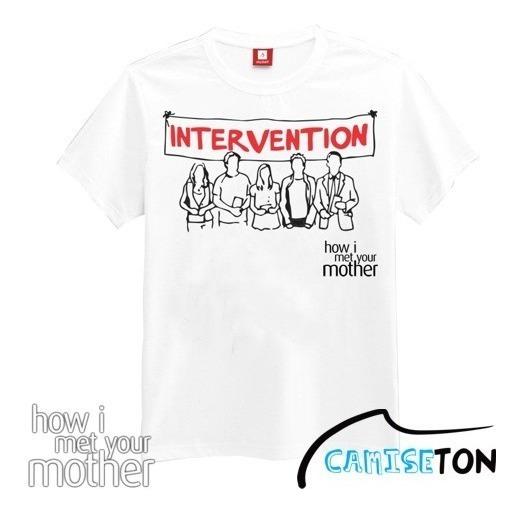 Camiseta Intervenção Seriado How I Met Your Mother (branca)