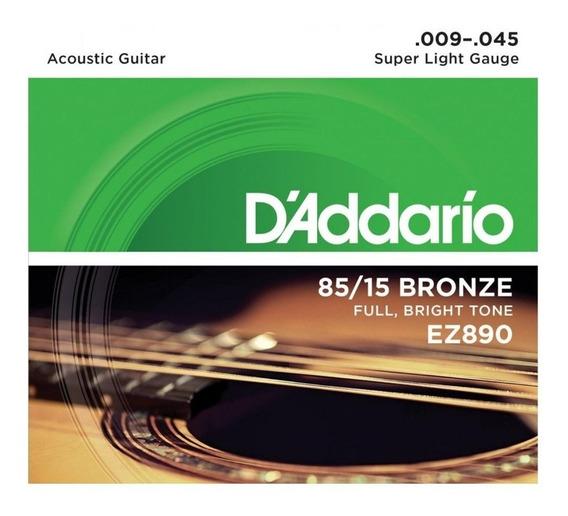 Cuerdas Guitarra Acústica Daddario Ez890 9-45 Envio Inmedia+