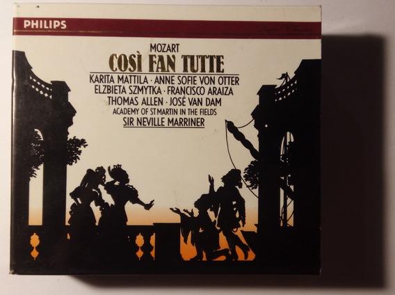 Mozart Box Imp 3 Cds Così Fan Tutte 1990 Marriner Philips