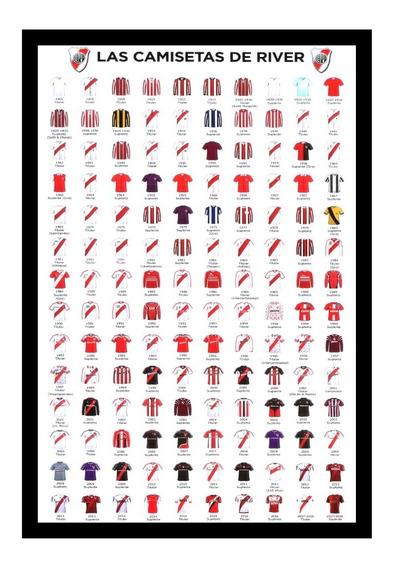 River Plate Cuadro Camisetas Del 1901 Al 2018