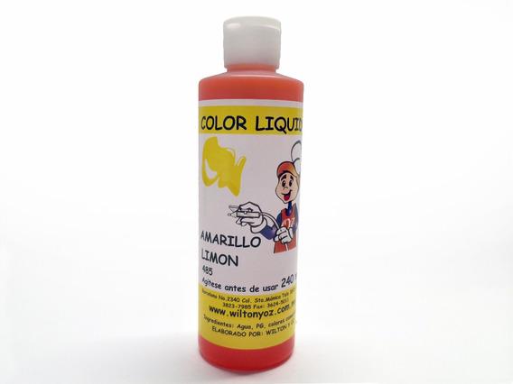 Liquido Colorante Grande Amarillo Limon 240 Ml (485)