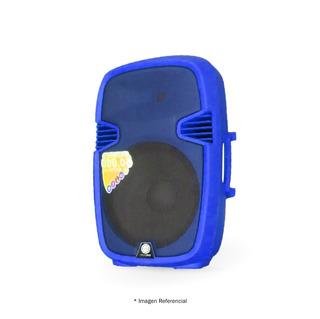 Caja One Audio Azul 15bt 50000w Usb Pedestal 2 Microfonos