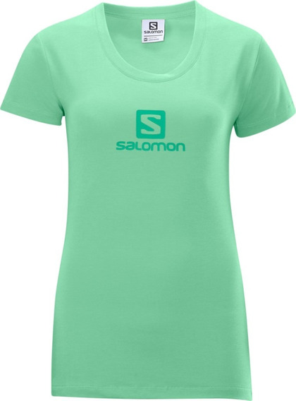Polo Femenino Salomon - Poly Logo Tee W Verde - Hiking
