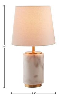 Mini Lampara Para Oficina O Recamara De Marmol Blanco