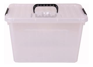 Caja Organizadora Plastica Grande Con Tapa Y Manillas 24 Lt