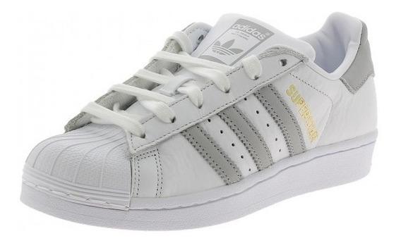 adidas Zapatillas Mujer Superstar W Blanco / Plata Fkr