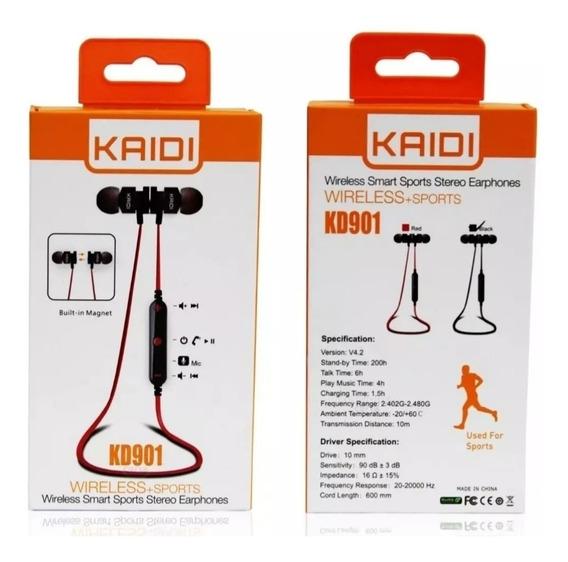 Fone De Ouvido Bluetooth Kaidi 901 Original Preto Promoção