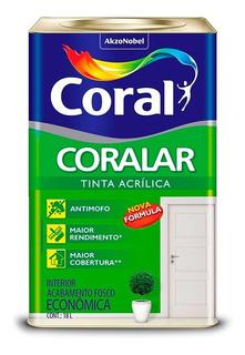 Tinta Para Parede Coral - Coralar Branco Gelo Fosco 18 Lts
