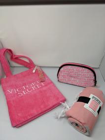 Bolsa Toalla Y Cosmetiquera Victoria Secret/pink
