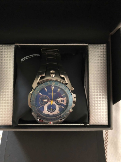 Relógio Orient Flytech Material Titânio Novo Na Caixa