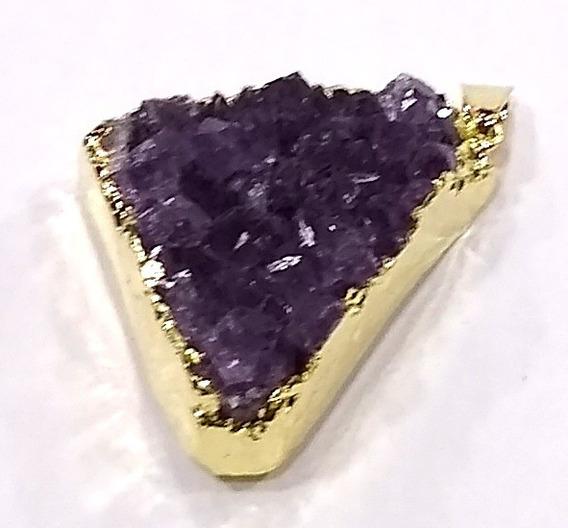 Pingente De Pedra Ametista 4cm Boas Energias E Proteção Pi05