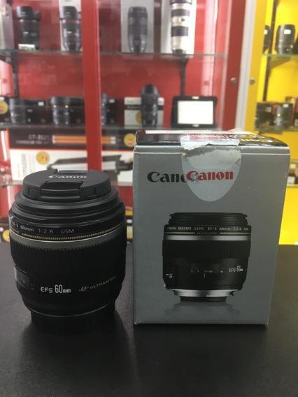 Objetiva Canon Eos Ef-s 60mm F2.8 Usm Macro 12x Sem Juros
