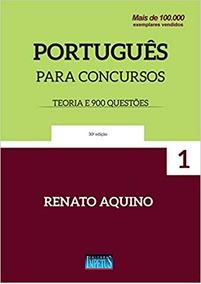 Livro Português Para Concursos - Teoria E 900 Questões