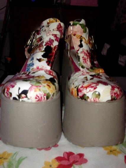 Zapatos Con Hermoso Diseño Primaveral Y Hebilla