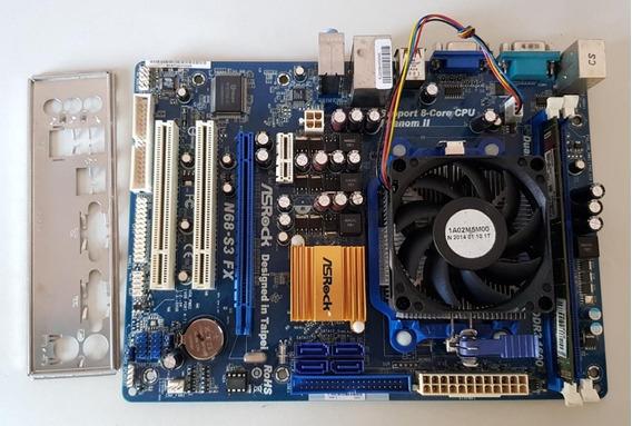Placa Mãe Amd Ddr3 Am3 Asrock N68-s3 Fx Usada Testada Ref: 02512