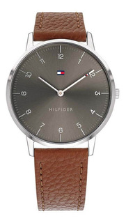 Reloj Tommy Hilfiger Th1791584 M. Cuero/acero Marr/gris