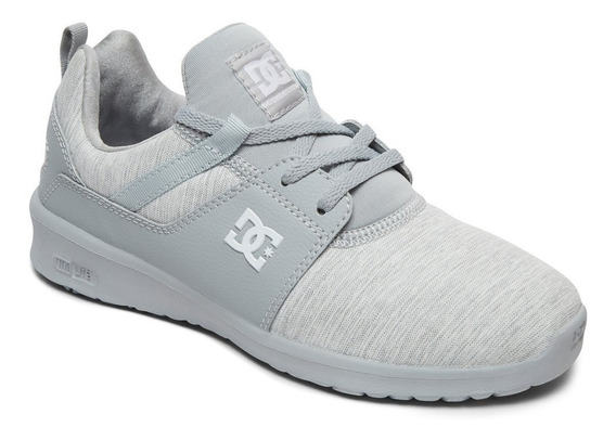 Zapatillas Dc Shoes Modelo Heathrow Tx Se Gris! Dama