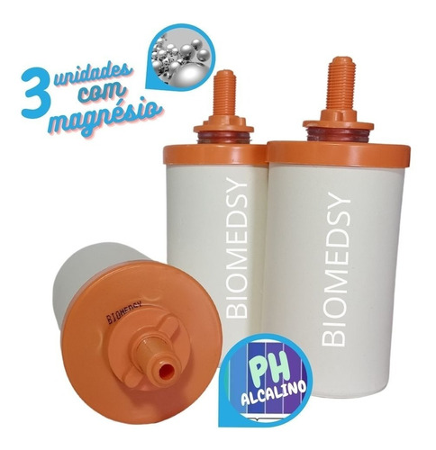 Vela Alcalina C/ Prata Coloidal E Magnésio Biomedsy 3 Und