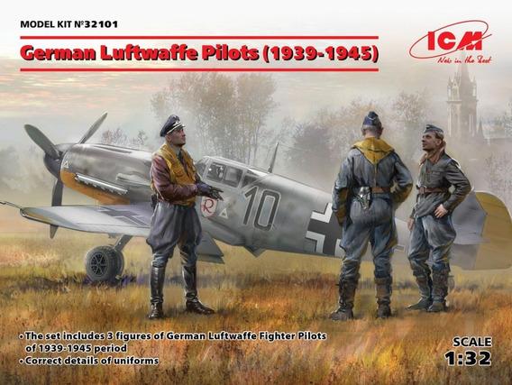 German Luftwaffe Pilots (1939-1945) 1/32 Icm Envio Gratis