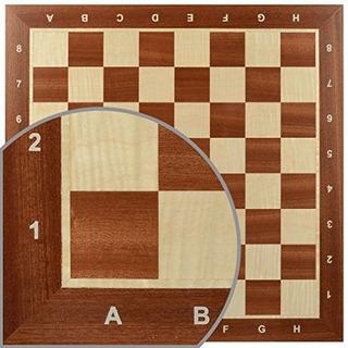 Continental Chess Board Nr6 Con Notación Nr 6 Mahagony Maho