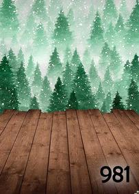 Fundo Fotográfico Em Tecido, Tema Natal - Tamanho 2,00x2,80m