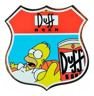Placa Decorativa - The Simpsons - Homer - Cerveja Duff Beer